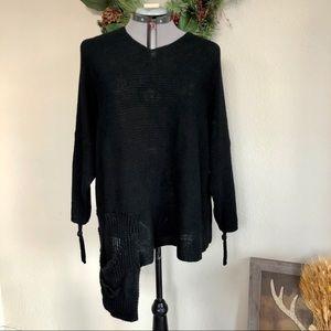 Zuza Bart Linen Knit Sweater Lagenlook Asymmet